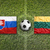 slovakia vs lithuania flags on soccer field stock photo © kb-photodesign