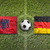 Albania vs. Germany flags on soccer field stock photo © kb-photodesign