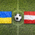 Ukraine vs. Austria flags on soccer field stock photo © kb-photodesign