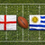england vs uruguay flags on rugby field stock photo © kb-photodesign
