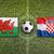 Wales vs. Croatia flags on soccer field stock photo © kb-photodesign
