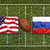 USA vs. Russia flags on rugby field stock photo © kb-photodesign