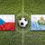 czech republic vs san marino flags on soccer field stock photo © kb-photodesign