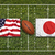 USA vs. Japan flags on rugby field stock photo © kb-photodesign