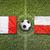 france vs poland flags on soccer field stock photo © kb-photodesign