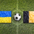 Ukraine vs. Belgium flags on soccer field stock photo © kb-photodesign