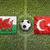 gales · vs · Turquía · banderas · campo · de · fútbol · verde - foto stock © kb-photodesign
