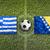 Greece vs. Bosnia and Herzegovina flags on soccer field stock photo © kb-photodesign
