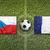 Чешская · республика · против · Франция · флагами · футбольное · поле · зеленый - Сток-фото © kb-photodesign