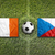 Irlanda · vs · República · Checa · bandeiras · campo · de · futebol · Turquia - foto stock © kb-photodesign