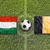 Hungary vs. Belgium flags on soccer field stock photo © kb-photodesign