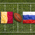 Belgium vs. Russia flags on rugby field stock photo © kb-photodesign