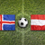 iceland vs austria flags on soccer field stock photo © kb-photodesign