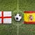 england vs spain flags on soccer field stock photo © kb-photodesign
