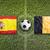 spain vs belgium flags on soccer field stock photo © kb-photodesign