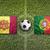 andorra vs portugal flags on soccer field stock photo © kb-photodesign