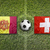 Andorra vs. Switzerland flags on soccer field stock photo © kb-photodesign