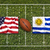usa vs uruguay flags on rugby field stock photo © kb-photodesign