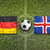 germany vs iceland flags on soccer field stock photo © kb-photodesign