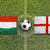 hungary vs england flags on soccer field stock photo © kb-photodesign