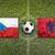 czech republic vs albania flags on soccer field stock photo © kb-photodesign