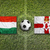 Hungary vs. Northern Ireland flags on soccer field stock photo © kb-photodesign