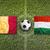 belgium vs hungary flags on soccer field stock photo © kb-photodesign