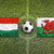 Hungary vs. Wales flags on soccer field stock photo © kb-photodesign