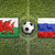 Wales vs. Russia flags on soccer field stock photo © kb-photodesign