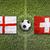england vs switzerland flags on soccer field stock photo © kb-photodesign