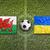 ウェールズ · 対 · ウクライナ · フラグ · 緑 - ストックフォト © kb-photodesign