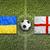 Oekraïne · vs · Engeland · vlaggen · voetbalveld · groene - stockfoto © kb-photodesign