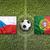 República · Checa · vs · Portugal · banderas · campo · de · fútbol · verde - foto stock © kb-photodesign