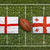 england vs georgia flags on rugby field stock photo © kb-photodesign