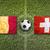 belgium vs switzerland flags on soccer field stock photo © kb-photodesign