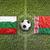 bulgaria vs belarus flags on soccer field stock photo © kb-photodesign