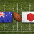 australia vs japan flags on rugby field stock photo © kb-photodesign