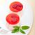 fresco · framboesa · sobremesa · de · servido · branco - foto stock © keko64