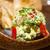 avokádó · Seattle · saláta · mustár · mártás · fehér - stock fotó © keko64