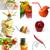 レストランの食べ物 · コラージュ · 異なる · レストラン · 料理 · 白 - ストックフォト © keko64