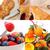 vegetarisch · ontbijt · collage · vers · voedzaam · glas - stockfoto © keko64