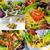 Sałatka · kolaż · ramki · świeże · placu · zdrowia - zdjęcia stock © keko64