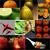 collage · salade · pâtes · saumon · asperges - photo stock © keko64