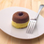 桜 · ケーキ · 白 · 皿 · 黒 · チョコレート - ストックフォト © keko64