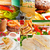 burgers and sandwiches collection on a collage stock photo © keko64