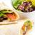 tavuk · salatası · sebze · tortilla · cips · gıda - stok fotoğraf © keko64