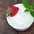 desayuno · griego · yogurt · rosa · limpio · comer - foto stock © keko64