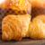 friss · sült · francia · croissant · fa · tábla - stock fotó © keko64