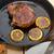 juteuse · porc · tomates · plaque · isolé - photo stock © keko64