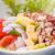 friss · saláta · tyúk · zöldségek · sajt · kék - stock fotó © keko64